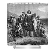 Plymouth Rock: Landing Shower Curtain