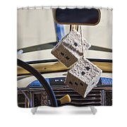 Plymouth Special Deluxe Dice Shower Curtain