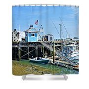 Plymouth Waterfront Shower Curtain
