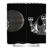 Pod 2001 - Gently Cross Your Eyes And Focus On The Middle Image Shower Curtain