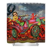 Poe Enjoy The Countryside Shower Curtain