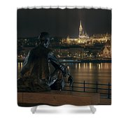 Poet On The Danube Shower Curtain