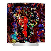 Poetry Music And Art Shower Curtain