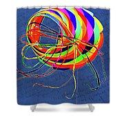 Poetry Of Kite Swirls Shower Curtain
