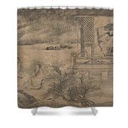 Poets Gathering In The Orchid Pavilion Shower Curtain