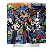 Poets Unleashed  Shower Curtain