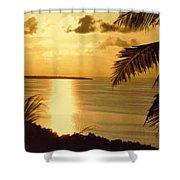 Pohnpei Sunset  Shower Curtain