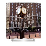 Poinsett Hotel Greeenville Sc Shower Curtain