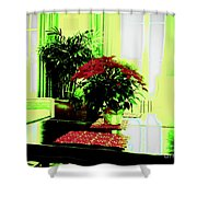 Poinsettia By Kef Shower Curtain