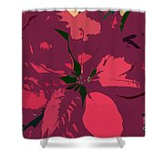 Poinsettias Work Number 4 Shower Curtain