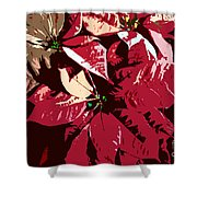 Poinsettia's Work Number 7 Shower Curtain