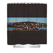 Point Allerton From Fort Revere Shower Curtain