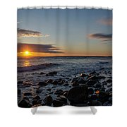 Point Allerton Sunrise - Nantasket Island Shower Curtain