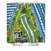 Point Arena Lighthouse Shower Curtain by Rojax Art