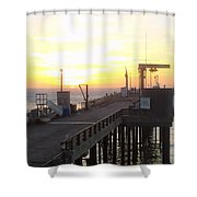 Point Arena Wharf Shower Curtain