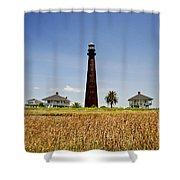 Point Bolivar Lighthouse Shower Curtain