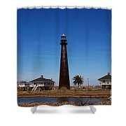Point Bolivar Lighthouse Tx Shower Curtain