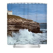 Point Conception Lighthouse Shower Curtain