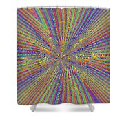 Point Counter Point Shower Curtain