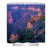 Point Imperial Sunrise 1-sq Shower Curtain
