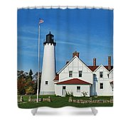 Point Iroquois Shower Curtain