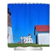 Point Judith Light Shower Curtain