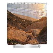 Point La Jolla Shower Curtain