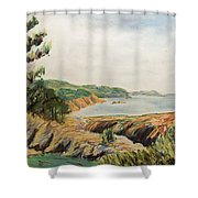 Point Lobos Shower Curtain by Don Perino