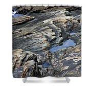 Point Lobos Rock 4 Shower Curtain