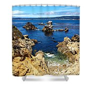 Point Lobos Whalers Cove- Seascape Art Shower Curtain