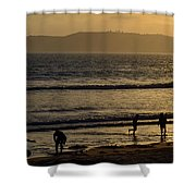 Point Loma California Surfers Shower Curtain