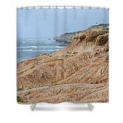 Point Loma Coastline Shower Curtain