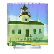 Point Loma Lighthouse Shower Curtain