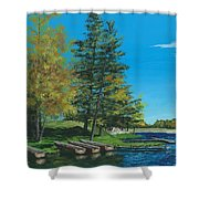 Point Narrows Shower Curtain