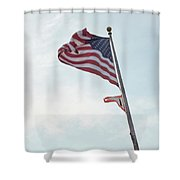 Point No Point American Flag Shower Curtain