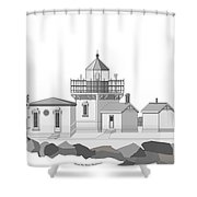 Point No Point As Architectural Drawing Shower Curtain