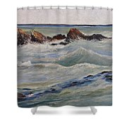 Point Of Action Shower Curtain