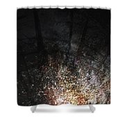 Point Of Impact Shower Curtain