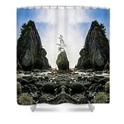 Point Of The Arches Reflection Shower Curtain