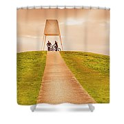 Point Ormond To The City Shower Curtain