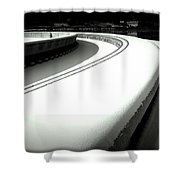 Point Park Fountain Winter, Pittsburgh Pa  Shower Curtain