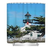 Point Pinos Lighthouse Shower Curtain