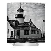 Point Pinos Pacific Grove Lighthouse Shower Curtain