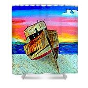 Point Reyes Wreck D2 Shower Curtain