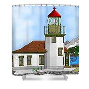 Point Robinson On Vashon Island Shower Curtain