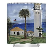 Point Vicente Lighthouse Shower Curtain
