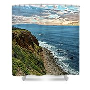 Point Vincente Lighthouse Shower Curtain