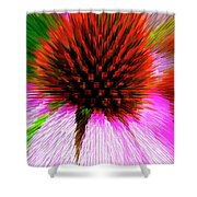 Pointed Flower Shower Curtain