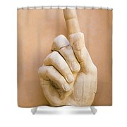 Pointing Finger, Statue Of Constantine, Rome, Italy Shower Curtain