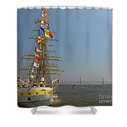 Pointing North Shower Curtain